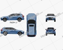 Volvo XC60 R-Design 2017 car clipart