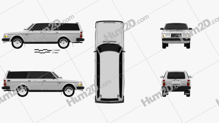 Volvo 245 1984 car clipart