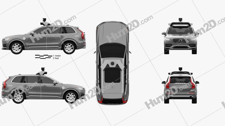 Volvo XC90 T8 Uber 2015 car clipart