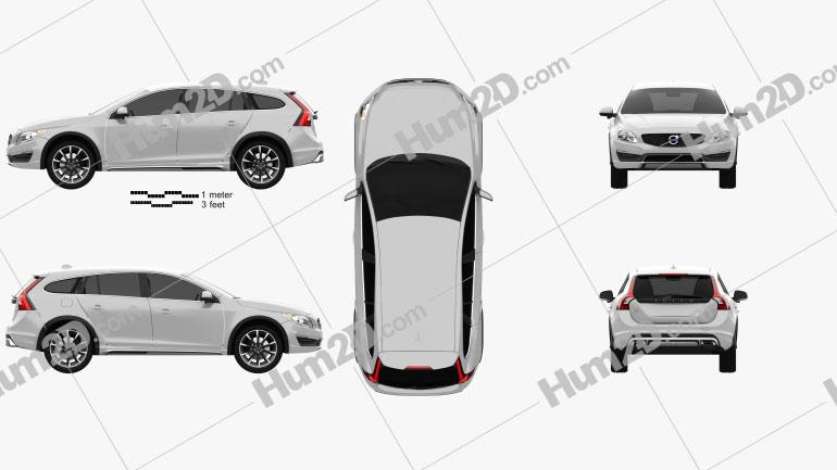 Volvo V60 D4 Cross Country 2015 car clipart