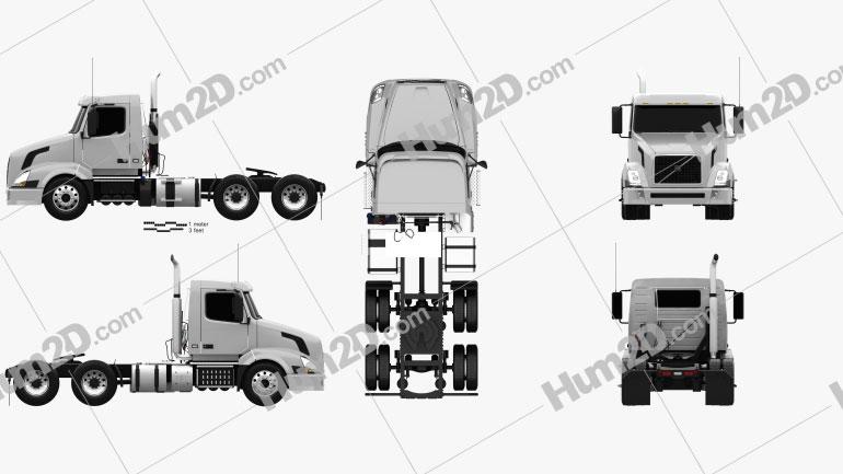Volvo VNL (300) Tractor Truck 2011 clipart