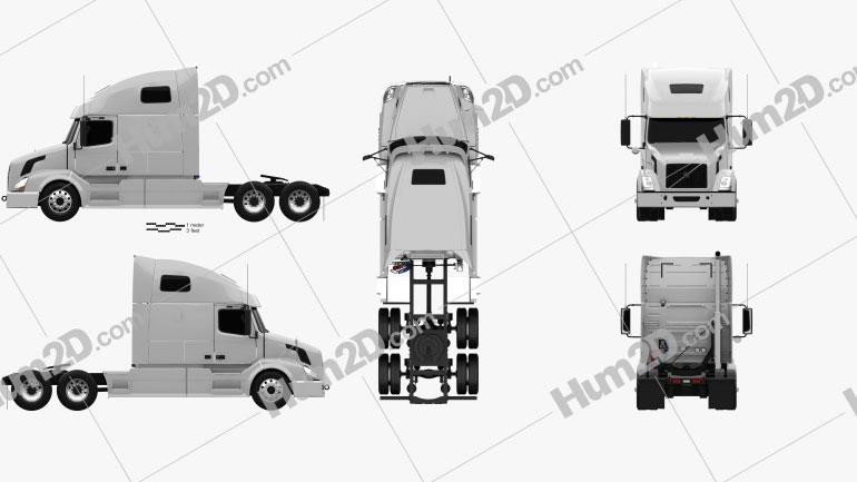 Volvo VNL (670) Tractor Truck 2011 clipart