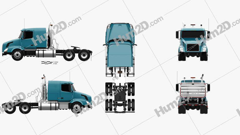 Volvo VNL (430) Tractor Truck 2011 clipart