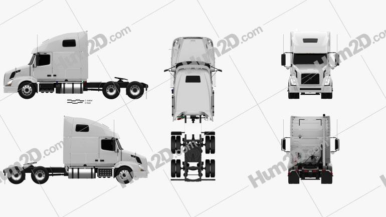 Volvo VNL (610) Tractor Truck 2011 clipart