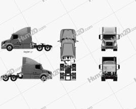 Volvo VNL (630) Tractor Truck 2011