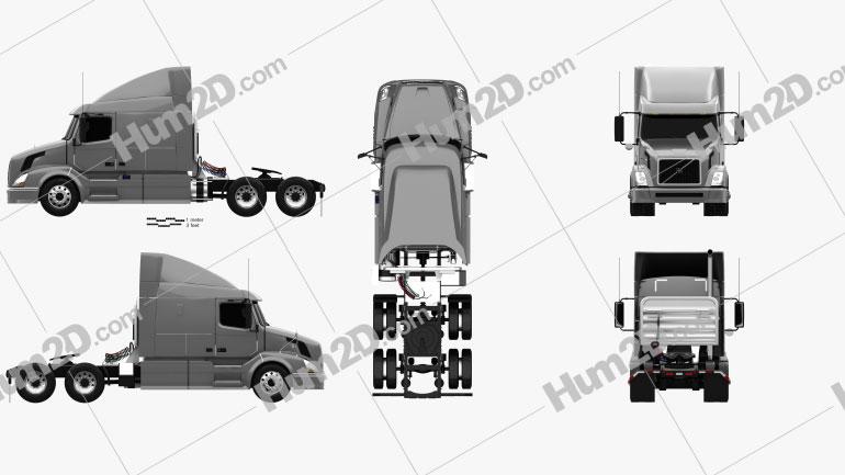 Volvo VNL (630) Tractor Truck 2011 clipart