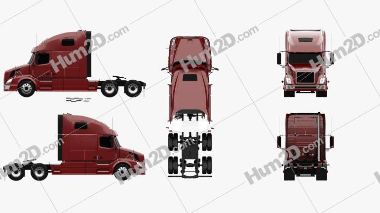 Volvo VNL (660) Tractor Truck 2011 clipart