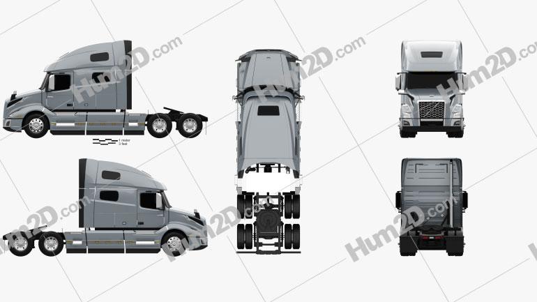 Volvo VNL (760) Tractor Truck 2018 clipart