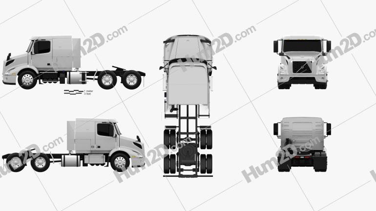 Volvo VNR (400) Tractor Truck 2018 clipart
