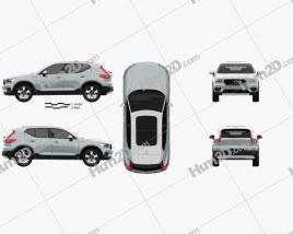 Volvo XC40 2017 car clipart