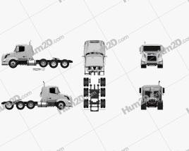 Volvo VNX (300) Tractor Truck 4-axle 2010