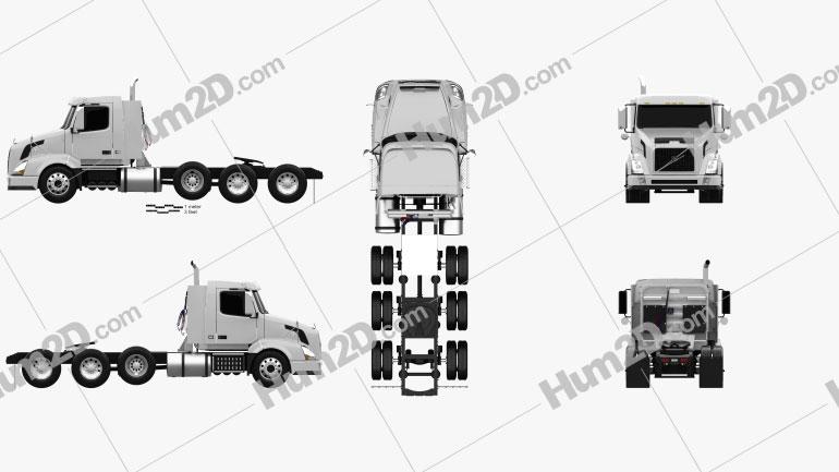 Volvo VNX (300) Tractor Truck 4-axle 2010 clipart