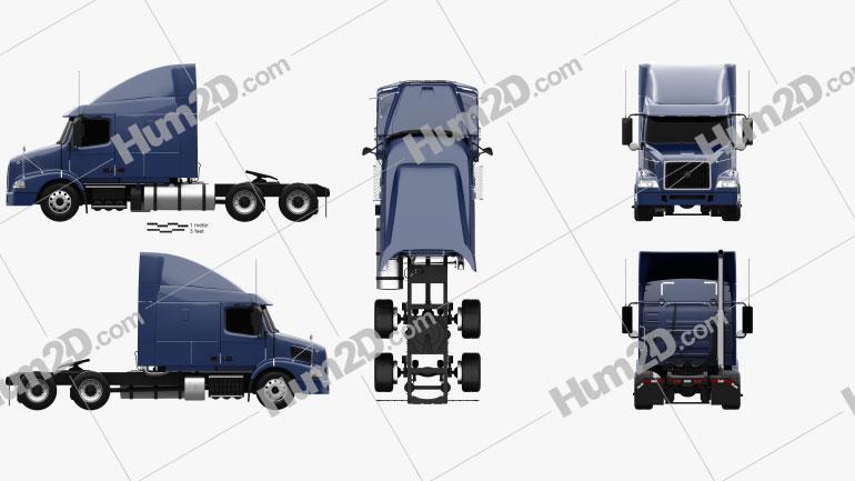 Volvo VNM (430) Tractor Truck 2012 clipart