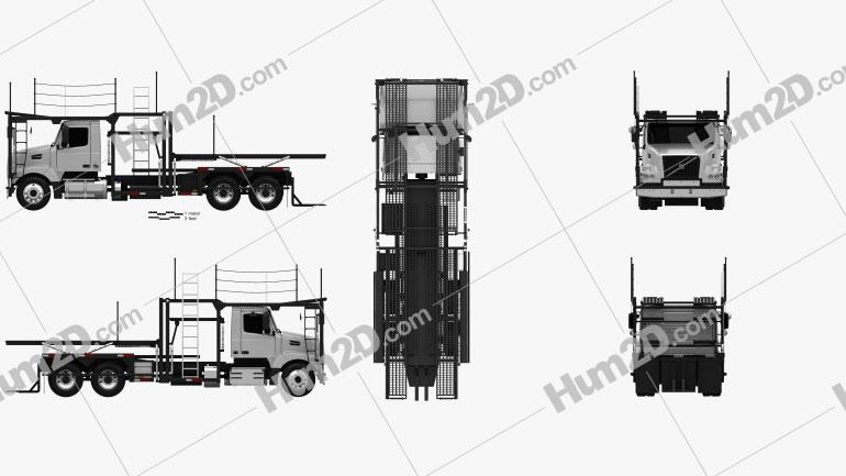 Volvo VAH (200) Car Carrier Truck 2015 clipart