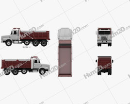 Volvo WG Dump Truck 4-axle 2007