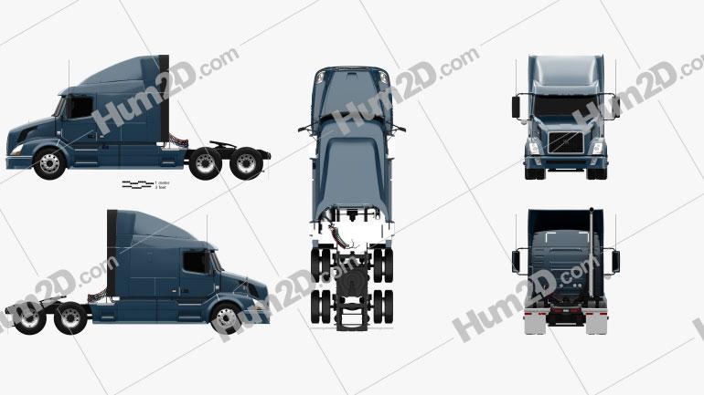 Volvo VAH (630) Tractor Truck 2012 clipart