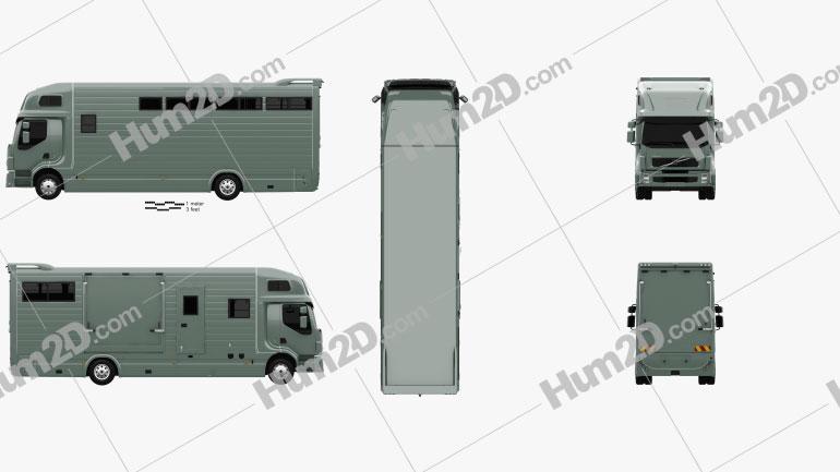 Volvo FE Roelofsen-Raalte RR2 Horse Truck 2017 clipart