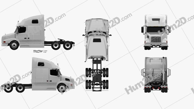 Volvo VNL (670) Tractor Truck 2000 clipart