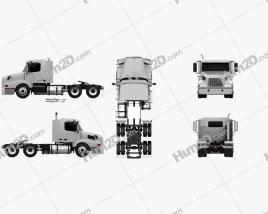 Volvo VNL WIA64T Day Cab Tractor Truck 2000
