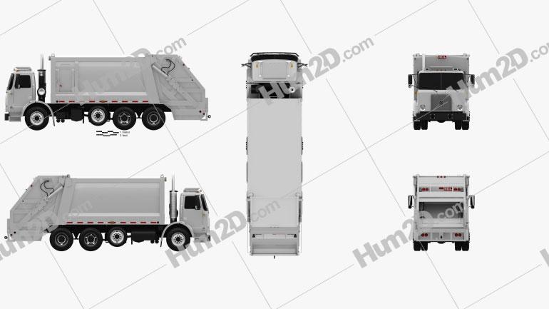 Volvo WX64 Garbage Truck Heil 2001 clipart