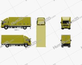 Volvo FL Day Cab Box Truck 2000