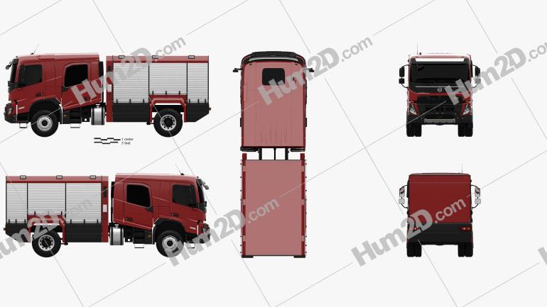 Volvo FMX Crew Cab Fire Truck 2020 clipart