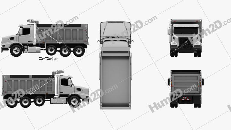 Volvo VHD Dump Truck 4-axle 2020 clipart
