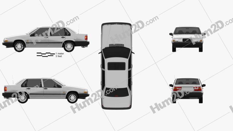 Volvo 940 1995 car clipart