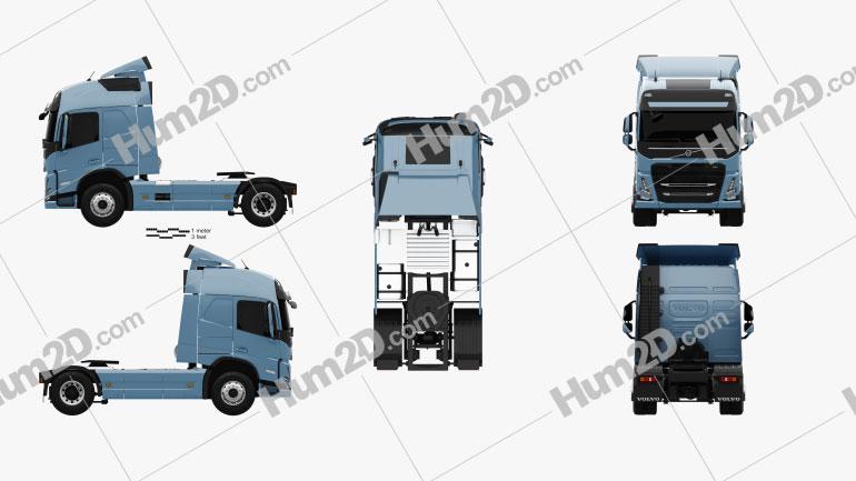 Volvo FM Tractor Truck 2020 clipart