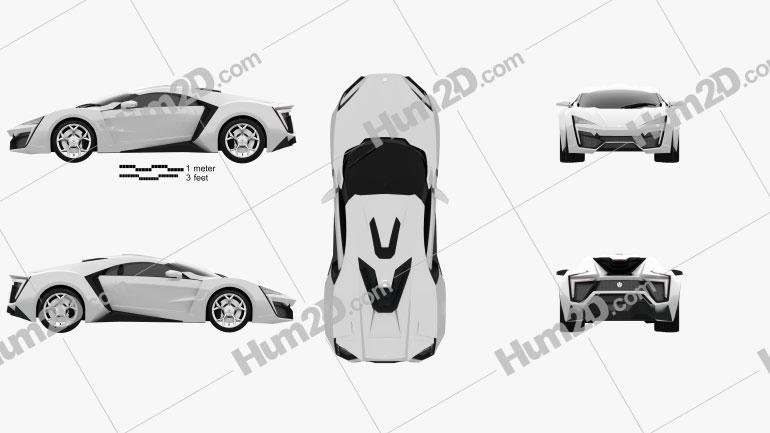 W Motors Lykan HyperSport 2012 Clipart Image