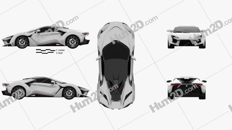 W Motors Fenyr SuperSport 2016 car clipart