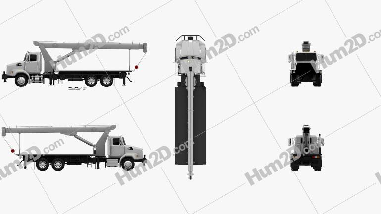 Western Star 4700 Set Back Crane Truck 2011 clipart