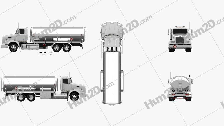 Western Star 4800 Tanker Truck 2008 clipart