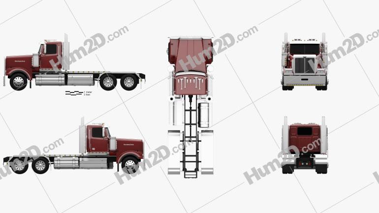 Western Star 4900 EX Tractor Truck 2008 clipart