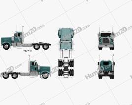 Western Star 4900 SF EX Day Cab Tractor Truck 2015