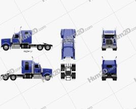 Western Star 4900 SF Sleeper Cab Tractor Truck 2008