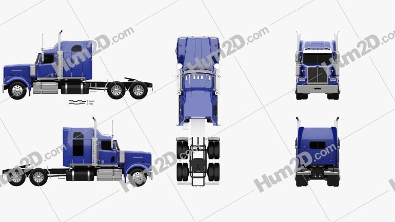Western Star 4900 SF Sleeper Cab Tractor Truck 2008 Clipart