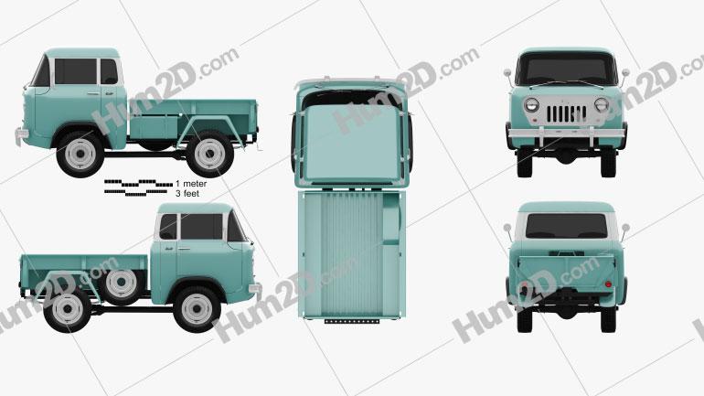 Willys Jeep FC-150 Forward Control 1957