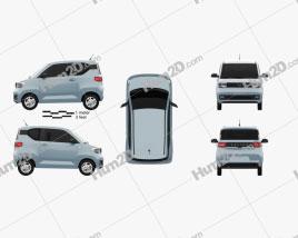 Wuling Hongguang Mini EV 2020 car clipart