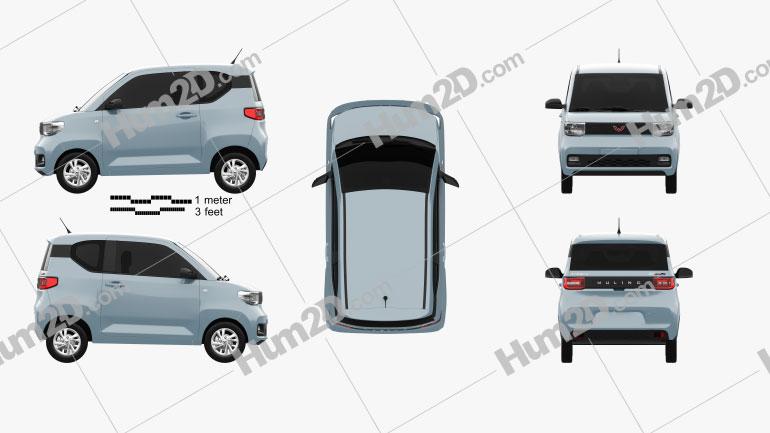 Wuling Hongguang Mini EV 2020 Clipart Image