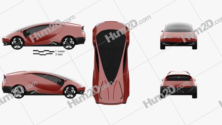 YO concept 2011 car clipart