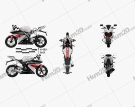Yamaha YZF-R125 Motorcycle clipart
