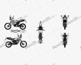Yamaha XT660Z Tenere 2012 Motorcycle clipart