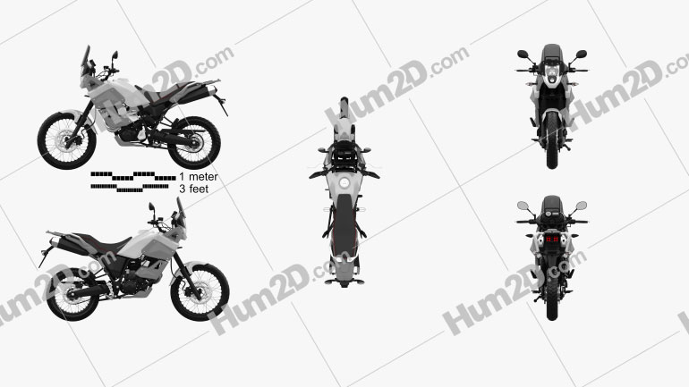 Yamaha XT660Z Tenere 2012 Motorrad clipart