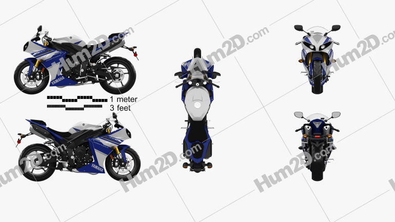 Yamaha R1 2014 Motorcycle clipart