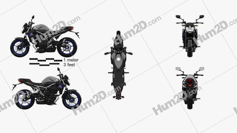 Yamaha XJ6 2014 Motorcycle clipart