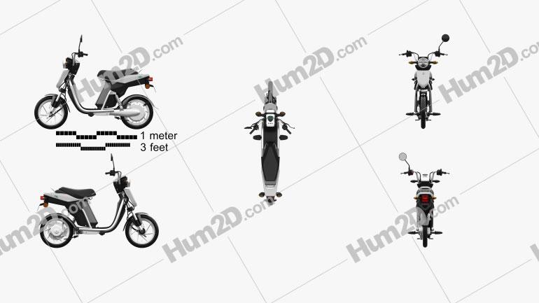 Yamaha EC-03 2013 Motorcycle clipart