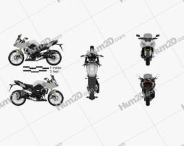 Yamaha FZ8 2013 Motorcycle clipart