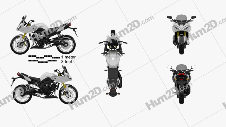 Yamaha FZ8 2013 Clipart Image