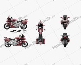 Yamaha FJR1300 ES 2013 Motorcycle clipart